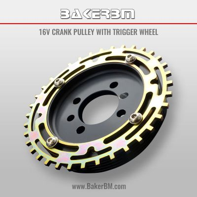 16v Crank Pulley with Trigger Wheel