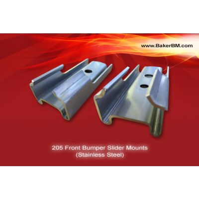 205 Stainless Steel Front Bumper Slider Mounts