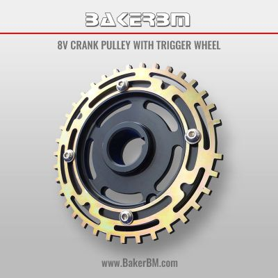 8v Crank Pulley with Trigger Wheel