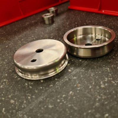 205 Gti Rear Bump stop cups in S/Steel