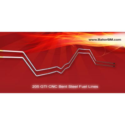 205 GTI CNC Bent Steel Fuel Lines