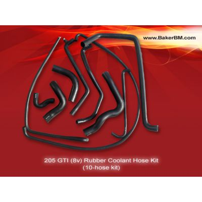 205 GTI 8v RHD Rubber Coolant Hoses Kit